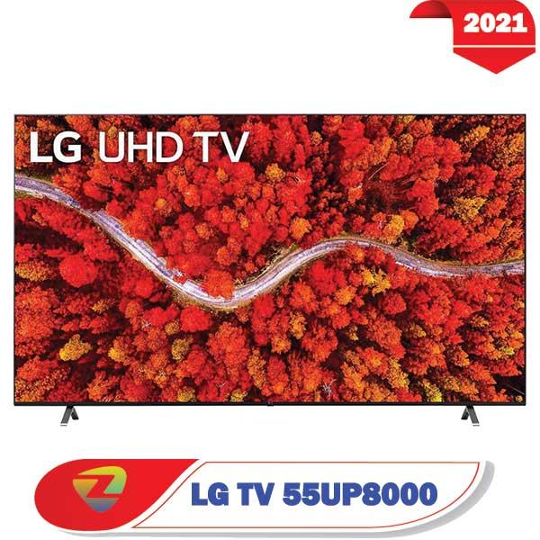 تلویزیون ال جی 55UP8000 مدل 2021 سایز 55 اینچ فورکی UP8000