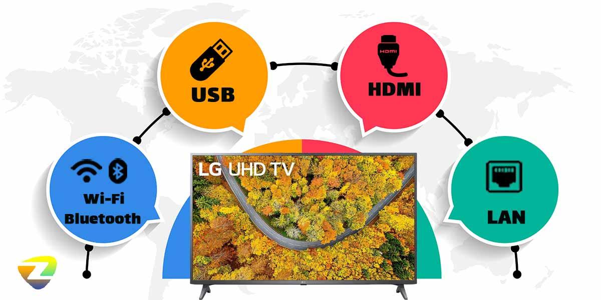 درگاه ارتباطی تلویزیون ال جی UP7550