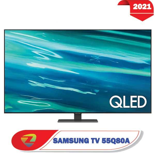 تلویزیون سامسونگ 55Q80A  مدل 2021 کیولد سایز 55 اینچ Q80A