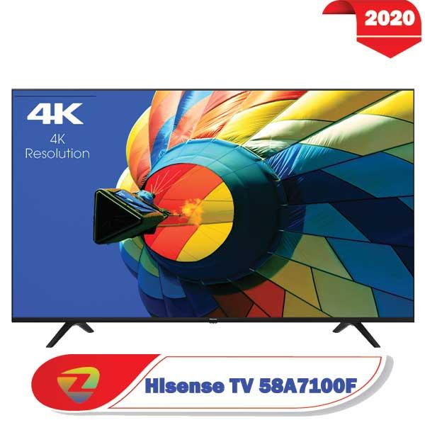 تلویزیون هایسنس 58A7100 سایز 58 اینچ A7100F مدل 2020