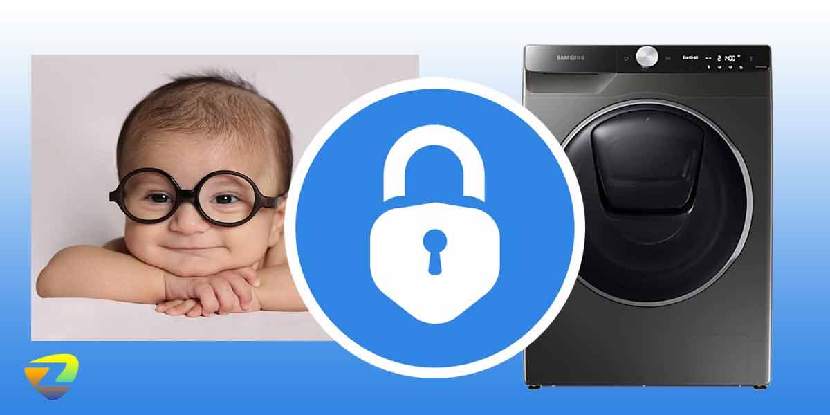 قفل کودک در لباسشویی سامسونگ WW90TA