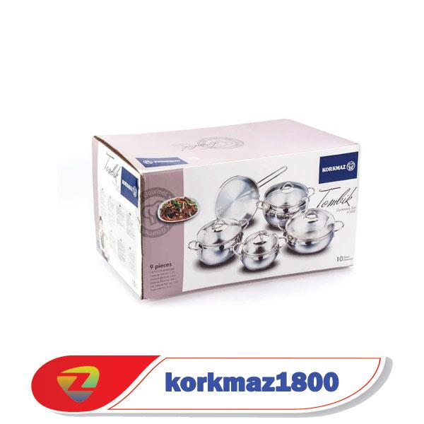 سرویس قابلمه کرکماز 9 پارچه 1800 مدل تامبیک