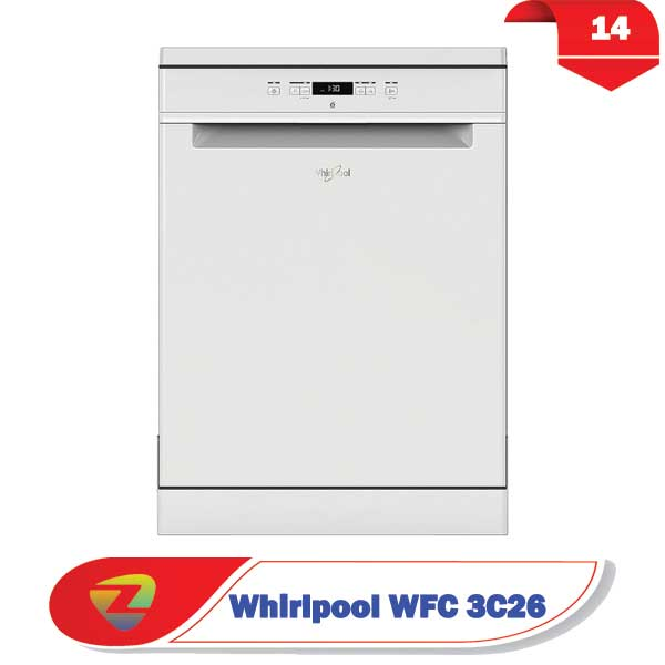 ماشین ظرفشویی ویرپول 3C26 ظرفیت 14 نفره WFC 3C26
