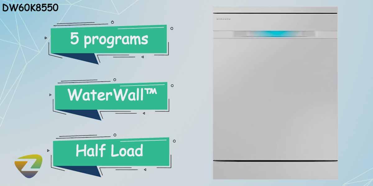 ظرفشویی سامسونگ 8550 ظرفیت 14 نفره DW60K8550