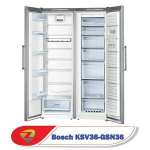 فضای داخلی یخچال دو قلوی بوش GSN36-KSV36