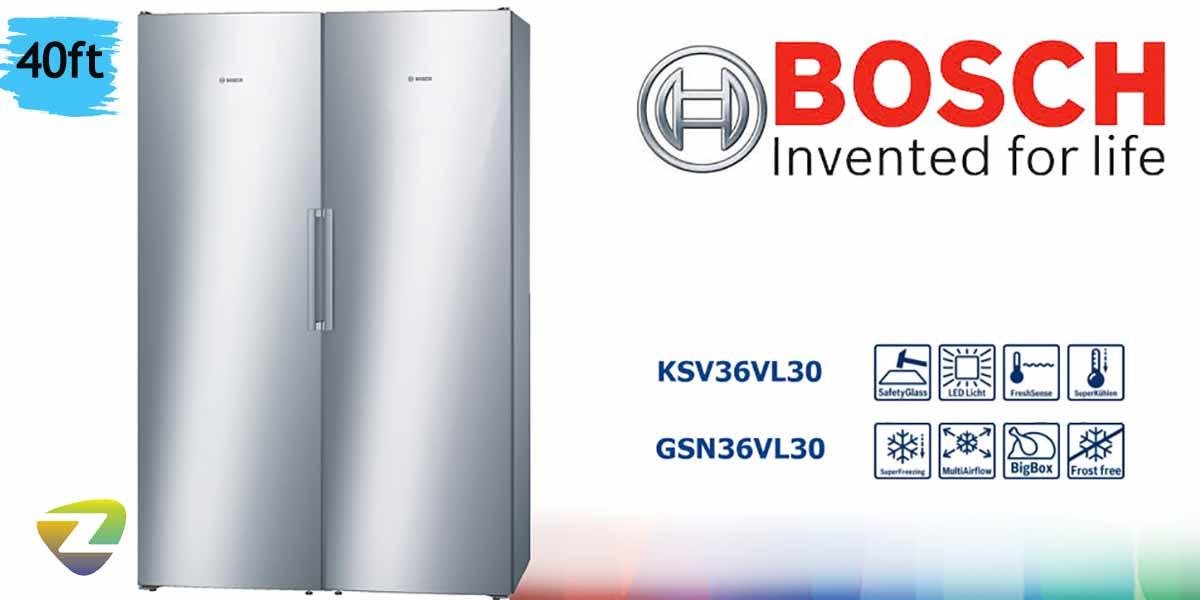💠 یخچال و فریزر دوقلوی بوش مدل GSN36-KSV36