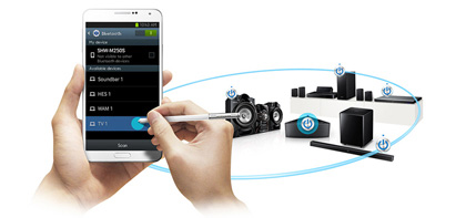 کنترل ساندبار از طریق گوشی هوشمند