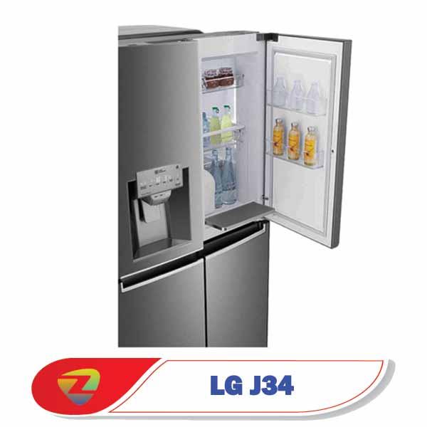 یخچال فریزر ال جی J34 ساید بای ساید نکست پنج درب 34 فوت مدل GR-J34FTKHL
