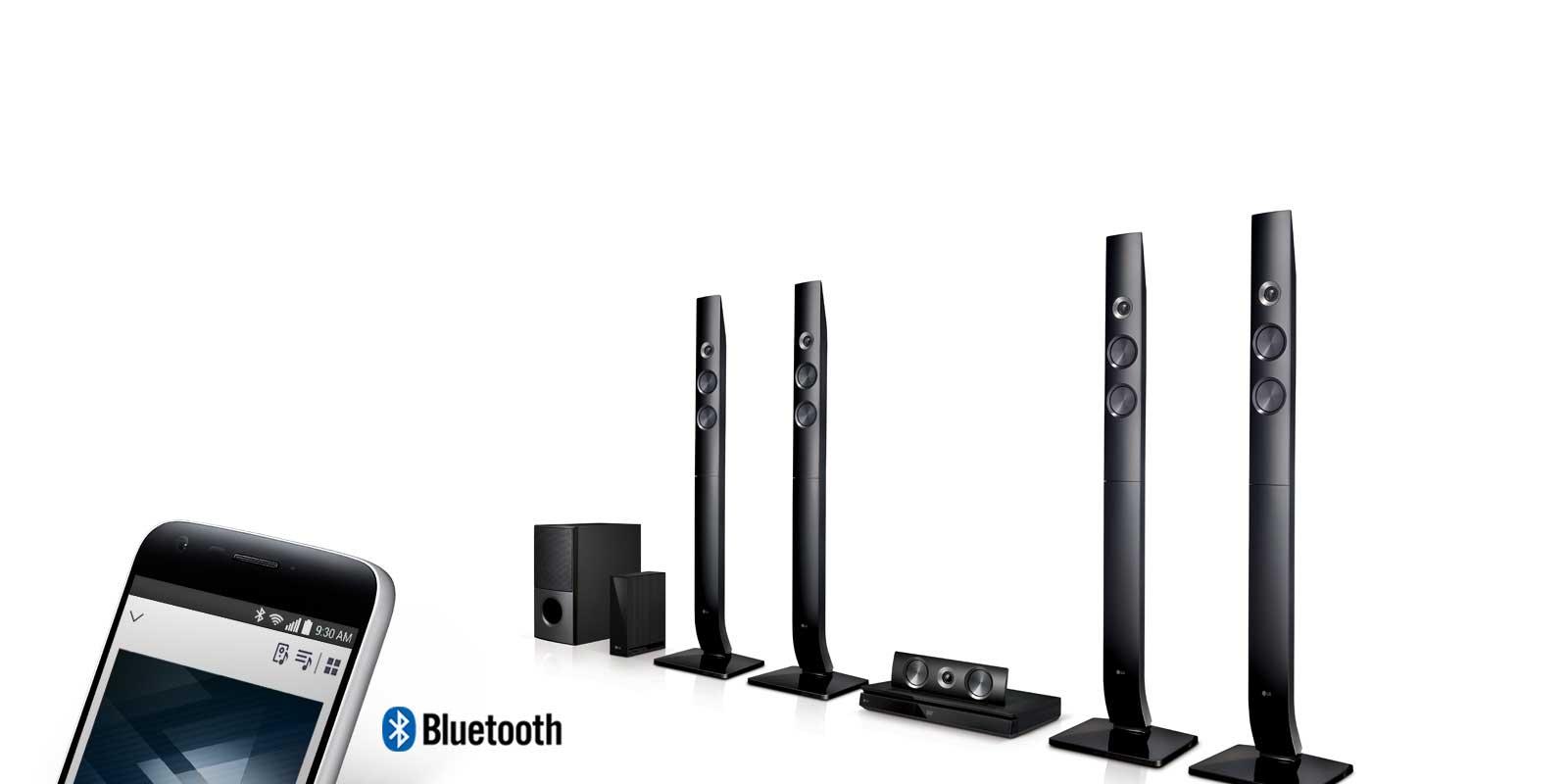 بلوتوث و جریان صوتی سینما خانگی الجی مدل LHD756W