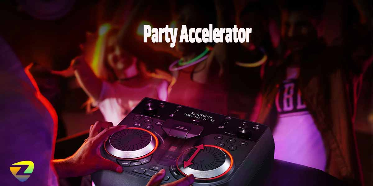 ویژگیParty Acceleratorدر سیستم صوتیOK75ال جی