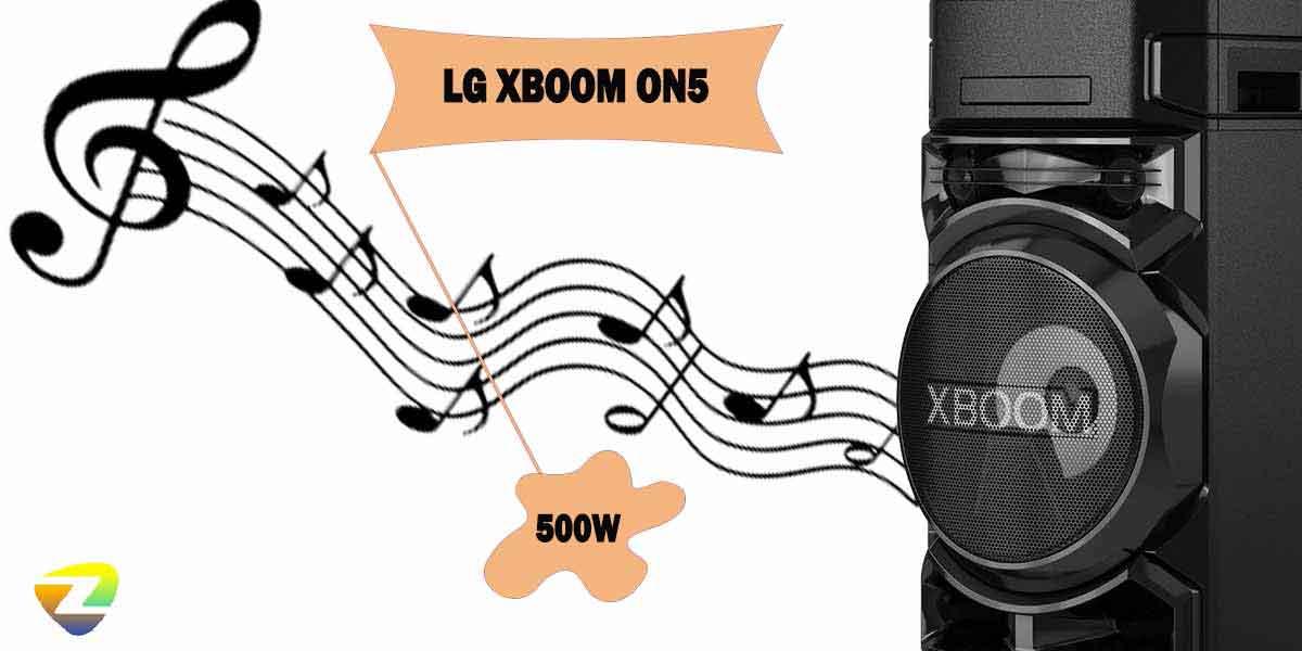 کیفیت صدای ایکس بوم ال جی ON5