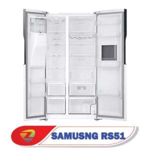 فضای داخلی حجیم یخچال فریزر سامسونگ RS51