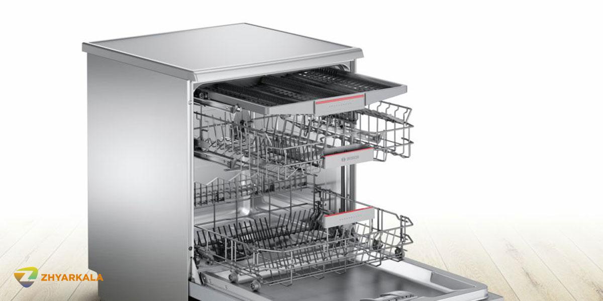 ماشین ظرفشویی بوش 13 نفره 46MW01 - SMS46MW01D سری4 درب باز از بغل نزدیک