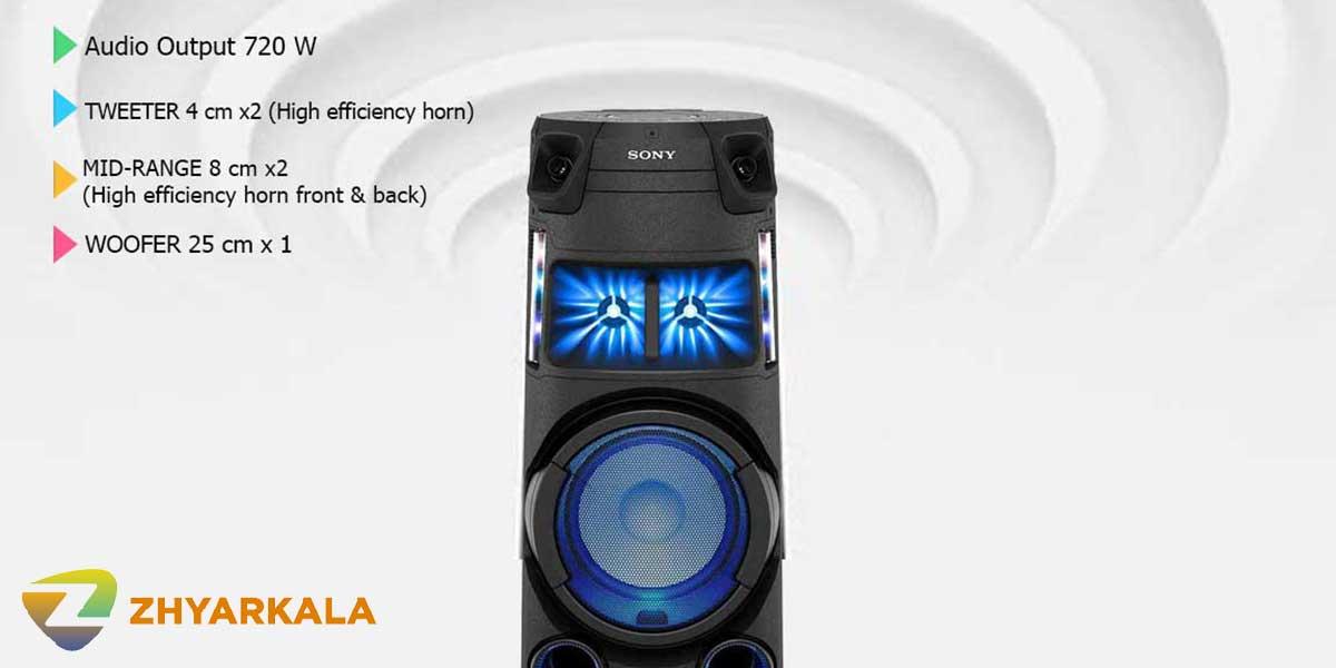 قدرت صوت شیک سونی V43