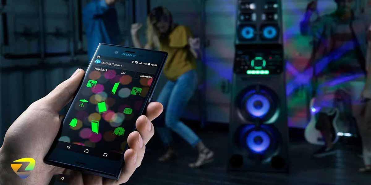 نرم افزارMusic CenterوFiestable در سیستم صوتی V90