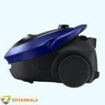 جاروبرقی سامسونگ 257 فیلتر دار 2000 وات نمای بدنه از بغل آبی رنگ