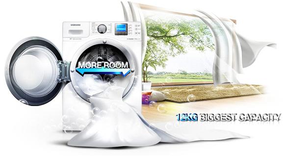 ظرفیت بزرگ تر، کار آسان تر، اختصاص دادن زمان بیشتر برای زندگیتان در لباسشویی WF1124XAU