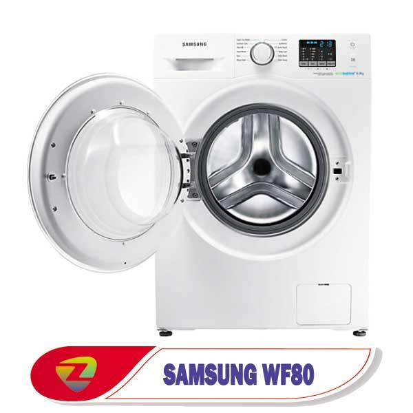 ماشین لباسشویی سامسونگ WF80 ظرفیت 8 کیلو WF80F5EHW4X