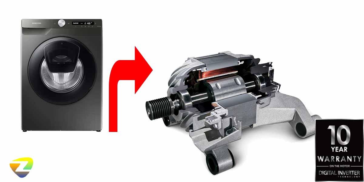 موتور قدرتمند لباسشویی سامسونگ WW90T