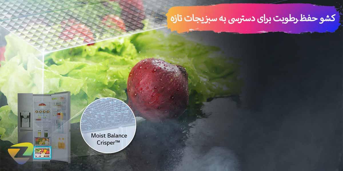 نگهداری اختصاصی میوه و سبزیجات در کشوها