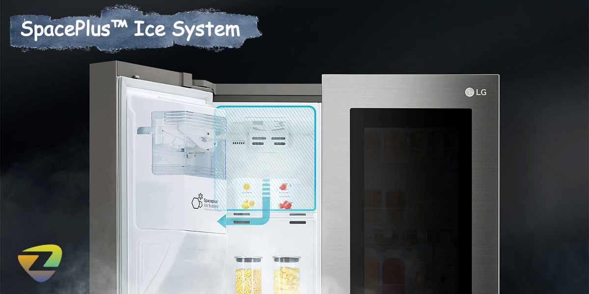 طراحی هوشمندانه یخ ساز SpacePlus™