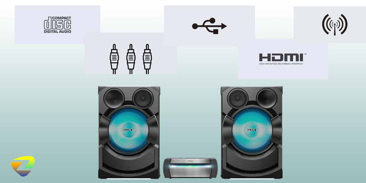 درگاه های ارتباطی سیستم صوتی X70