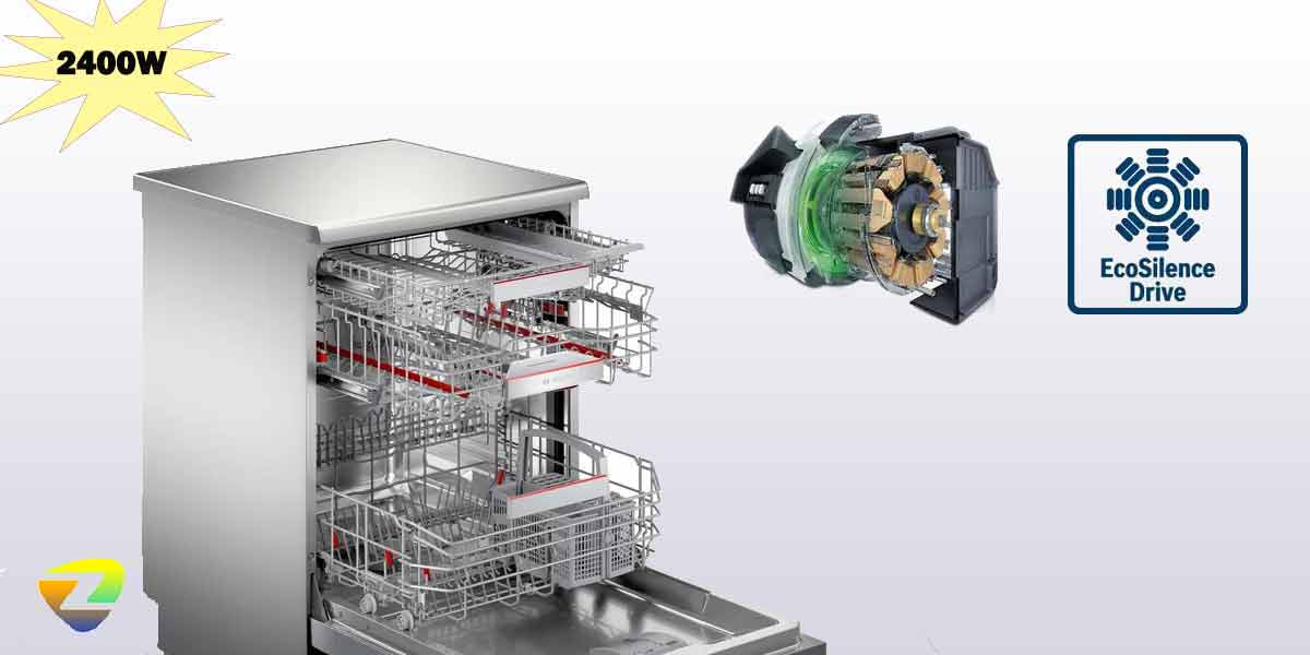 موتور قوی در ماشین ظرفشویی بوش 4HBI56E