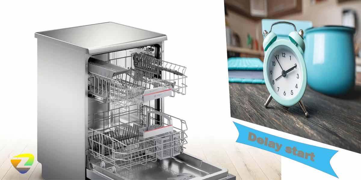 شروع شستشو با تاخیر در ماشین ظرفشویی بوش 4HBI56E