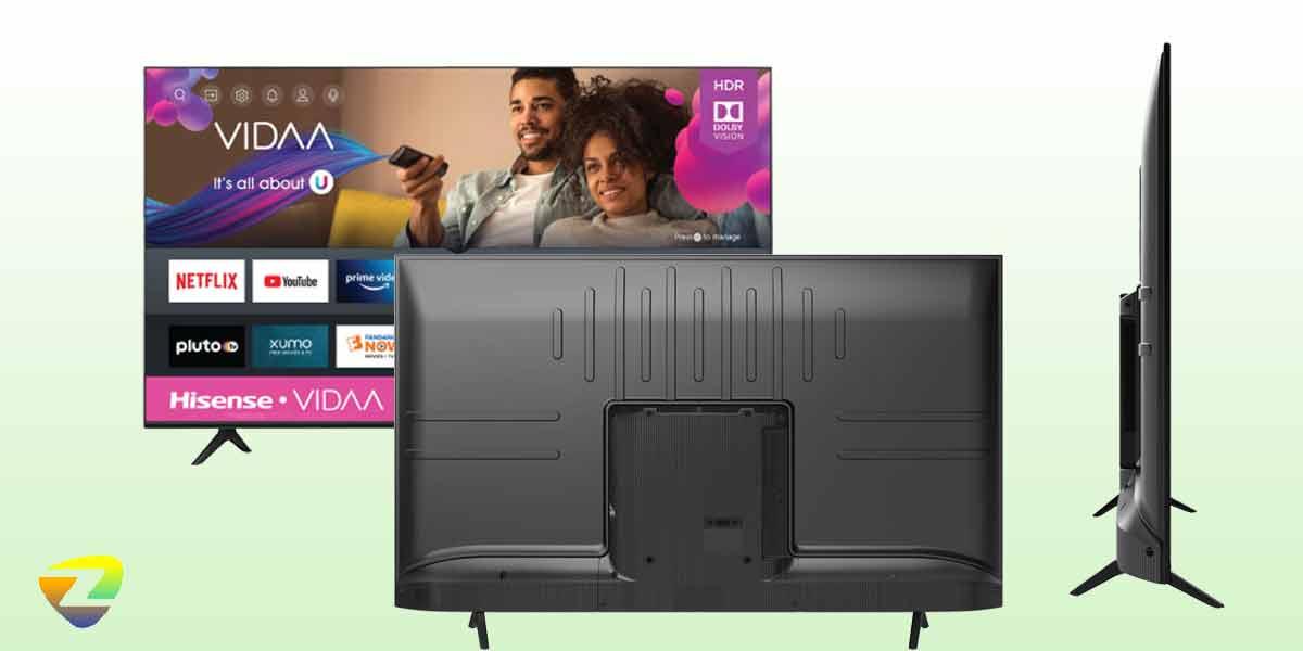 طراحی پشت تلویزیون هایسنس A62G