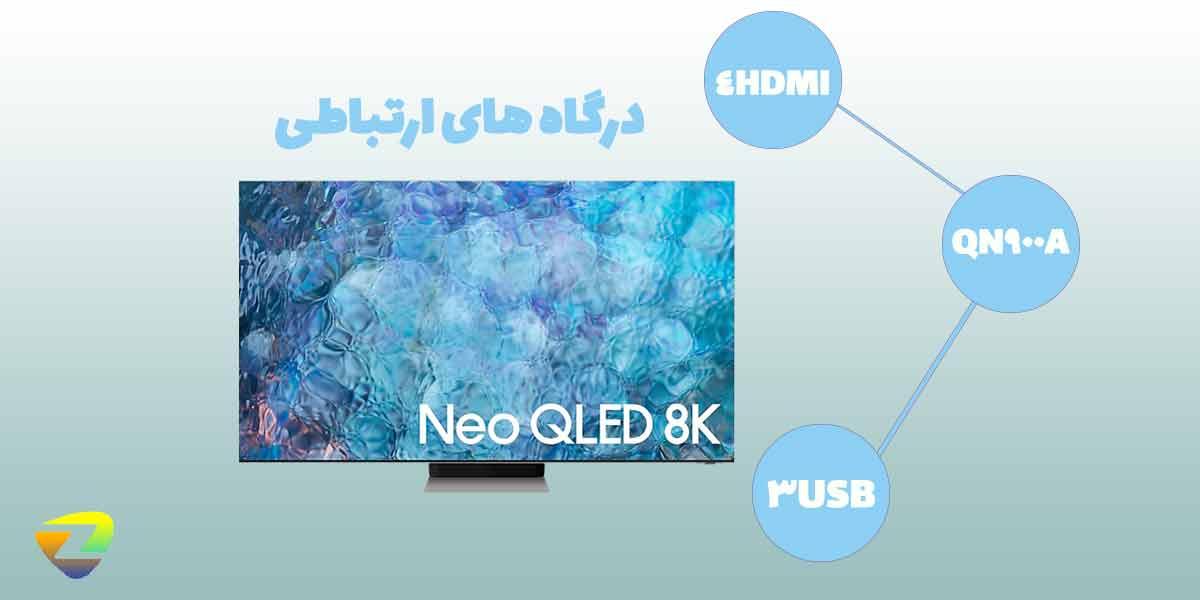 درگاه های ارتباطی تلویزیون سامسونگ QN900A