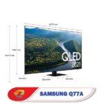 ابعاد تلویزیون سامسونگ Q77A
