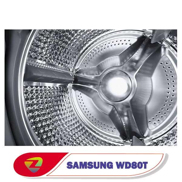 ماشین لباسشویی سامسونگ WD80T ظرفیت 8 کیلو WD80T554DBN