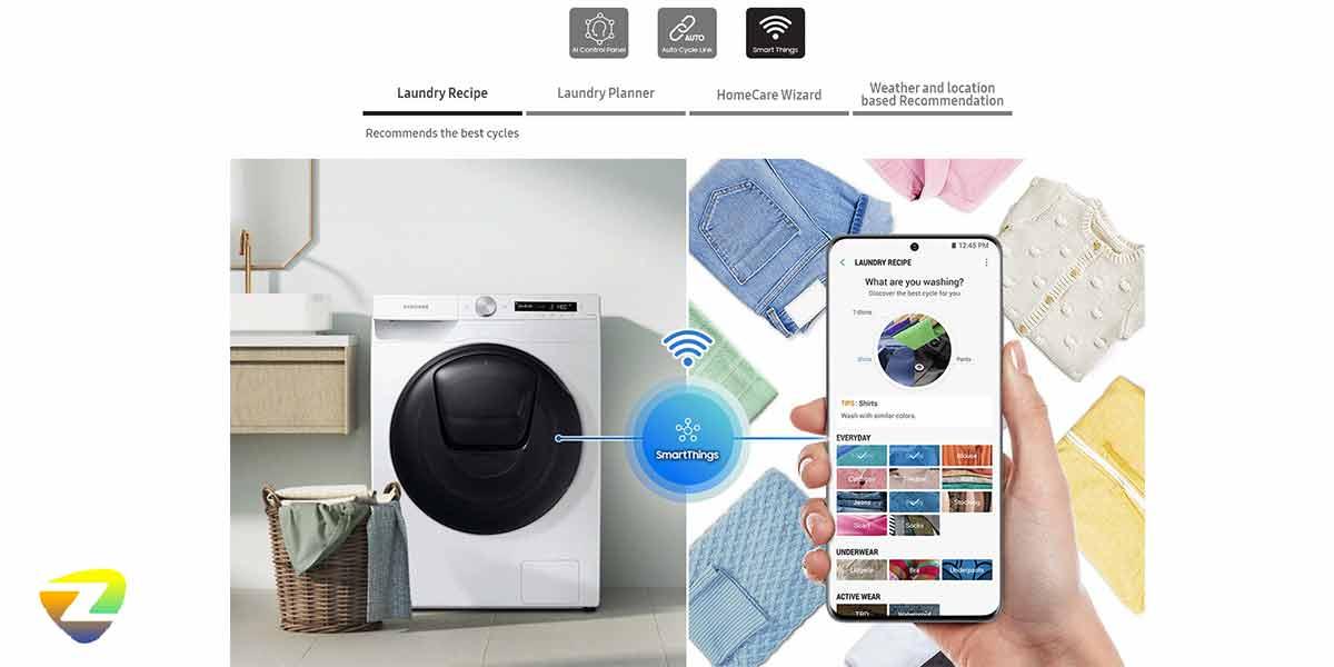 سیستم عیب یابی هوشمند در ماشین لباسشویی سامسونگ WD80T
