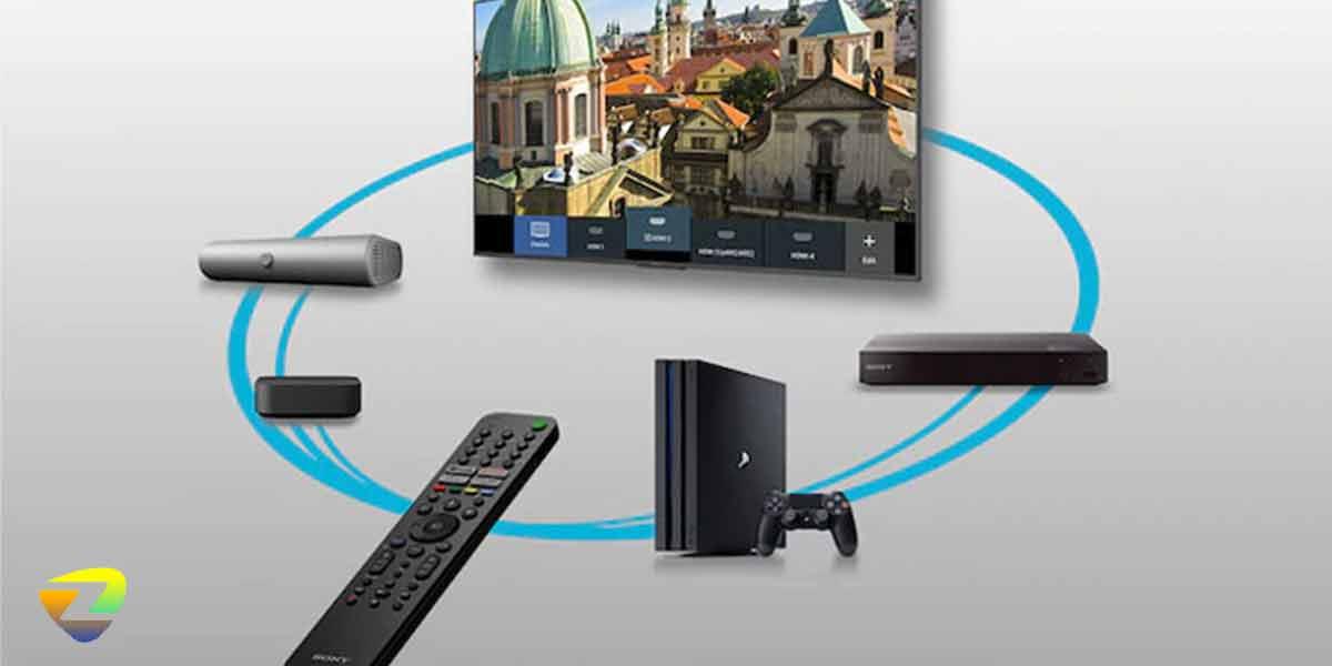 درگاه های ارتباطی تلویزیون سونی X75A