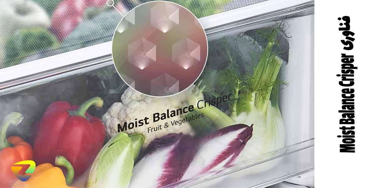 قابلیت Moist Balance Crisper در یخچال فریزر دو قلو ال جی 511-514