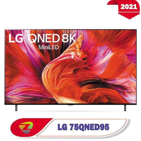 تلویزیون ال جی 75QNED95 مدل 2021 کیفیت 8K سایز 75 اینچ QNED95