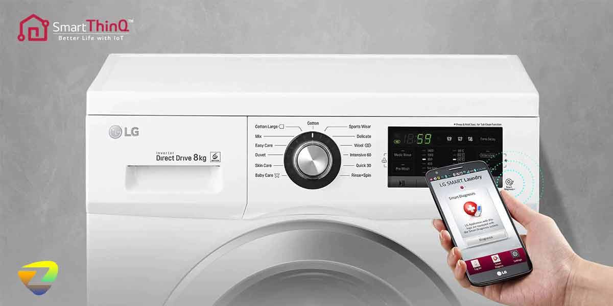 برنامه ی عیب یابی هوشمند در لباسشویی ال جی J1