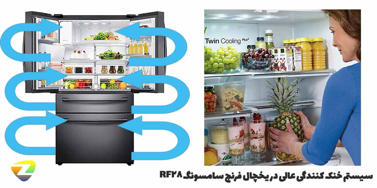سیستم خنک کنندگی یخچال فریزر سامسونگ RF28