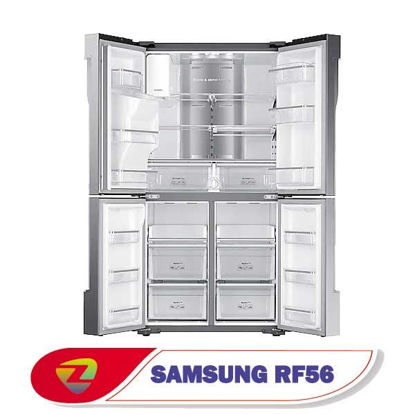 یخچال فریزر سامسونگ RF56 ساید بای ساید 30 فوت مدل RF56N9040SL